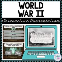 World War II Interactive Google Slides cover pic