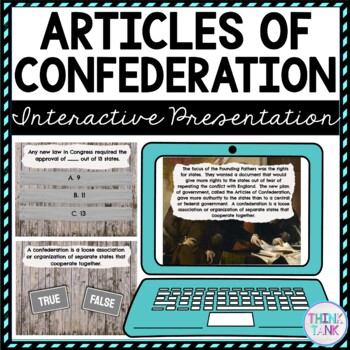 Articles of Confederation Interactive Google Slides picture