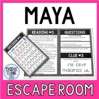 Maya Escape Room Activity picture