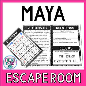 Maya Escape Room Activity picture