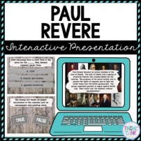 Paul Revere Interactive Google Slides picture