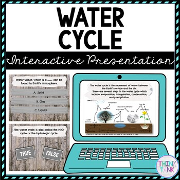 Water Cycle Interactive Google Slides picture
