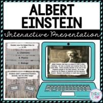 Albert Einstein Interactive Google Slides™ Presentation | Distance Learning picture