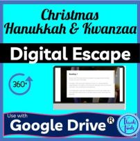 Christmas, Hanukkah and Kwanzaa DIGITAL ESCAPE ROOM picture