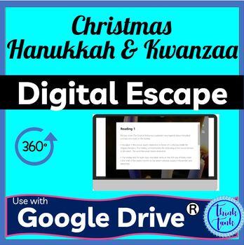 Christmas, Hanukkah and Kwanzaa DIGITAL ESCAPE ROOM picture