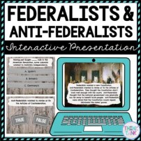 Federalists & Anti-Federalists Interactive Google Slides picture