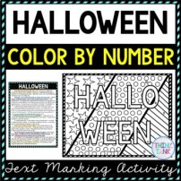 Halloween Color by number Picture