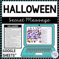 Halloween Secret Message Activity Picture