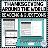Thanksgiving Around the World DIGITAL Reading Passage & Questions picture