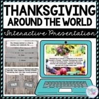Thanksgiving Around the World Interactive Google Slides picture