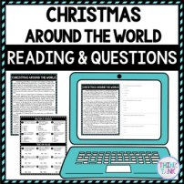 Christmas Around the World DIGITAL Reading Passage & Questions - Self Grading