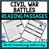 Civil War Battles Reading Passages