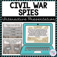 Civil War Spies Interactive Google Slides™ Presentation | Distance Learning