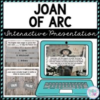 Joan of Arc Interactive Google Slides™ Presentation | Distance Learning