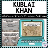 Kublai Khan Interactive Google Slides™ Presentation | Distance Learning