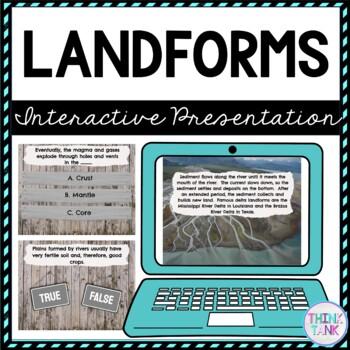 Landforms Interactive Google Slides™ Presentation   Distance Learning