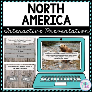 North America Interactive Google Slides™ Presentation | Distance Learning