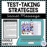 Test-Taking Strategies Secret Message Activity for Google Sheets™