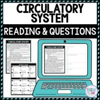 Circulatory System DIGITAL Reading Passage and Questions - Self Grading