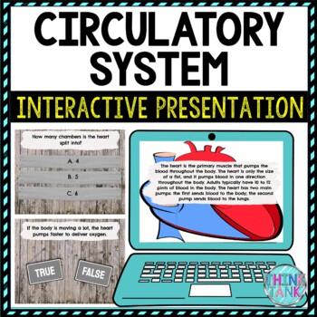 Circulatory System Interactive Google Slides™ Presentation   Digital