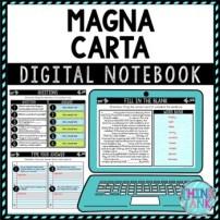 Magna Carta DIGITAL Interactive Notebook | Choice Board