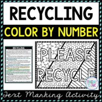 Recycling Color by Number, Reading Passage and Text Marking