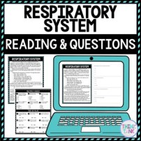 Respiratory System DIGITAL Reading Passage and Questions - Self Gradingc