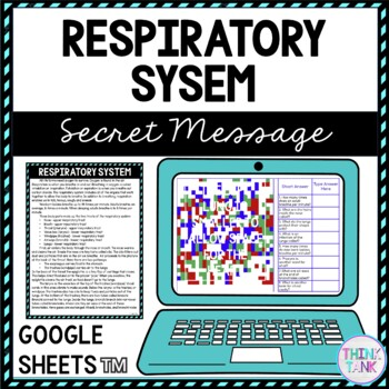 Respiratory System Secret Message Activity for Google Sheets™