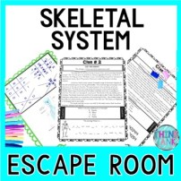 Skeletal System ESCAPE ROOM Activity - Human Body Systems