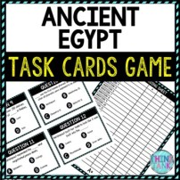 Ancient Egypt Task Cards Review Game Activity | Ancient History