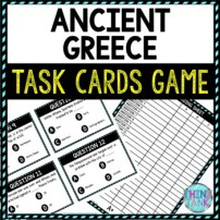 Ancient Greece Task Cards Review Game Activity | Ancient History