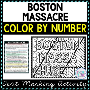 Boston Massacre Educational Activity