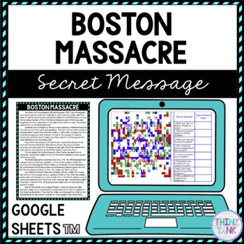 Boston Massacre educational assignment