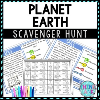 Planet earth scavenger hunt lesson plan picture