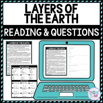 Layers of Earth lesson plan picture