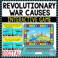 Revolutionary War Causes Review Game Board | Digital | Google Slides