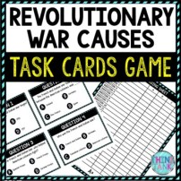 Revolutionary War Causes Task Cards Review Game | American Revolution Activity