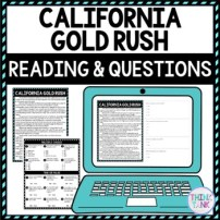 California Gold Rush DIGITAL Reading Passage and Questions - Self Grading
