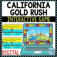 California Gold Rush Review Game Board | Digital | Google Slides