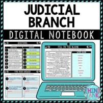 Judicial Branch DIGITAL Interactive Notebook Activity
