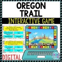 Oregon Trail Review Game Board | Digital | Google Slides | Westward Expansion