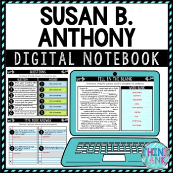Susan B. Anthony DIGITAL Interactive Notebook picture