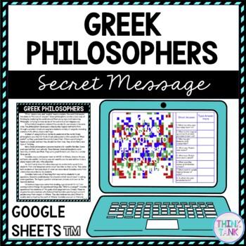 Greek Philosophers Educational Activity