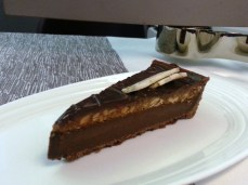 VA Upper Class Flight - chocolate hazelnut tarte