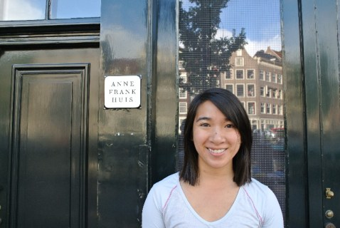 in front of Anne Frank House