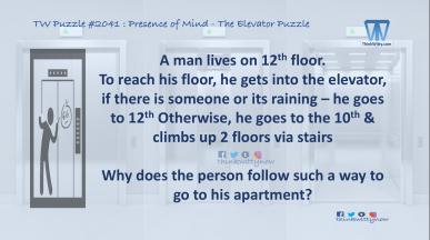 Puzzle 2041 thinkwitty.com - Presence of Mind - Elevator Puzzle