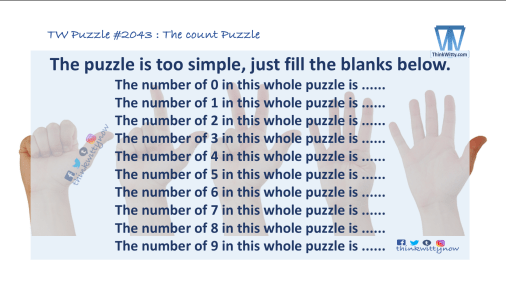 Puzzle 2043 thinkwitty.com - The count Puzzle