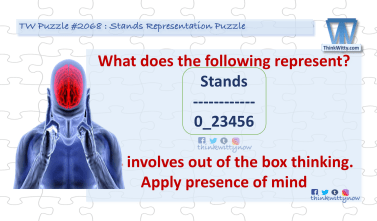 Puzzle 2068 thinkwitty.com - Stands Representation Puzzle Riddle
