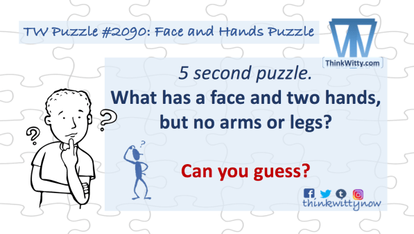 Puzzle 2090 thinkwitty.com - Face and Hands Puzzle Riddle