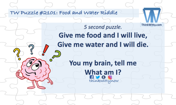 Puzzle 2101 thinkwitty.com - Food and Water Riddle